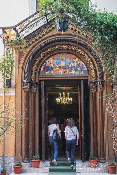 Entrance to old Church, Brasov