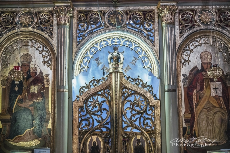 Inside old Greek Orthodox Church, Brasov